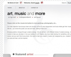 Art, Music and More Web Site