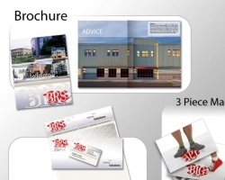 BRS Architects brochure, corporate documents and 3-piece mailer