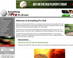 Everything Pro Golf Web Site