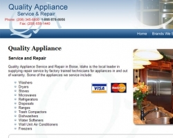 Quality Appliance Web Site
